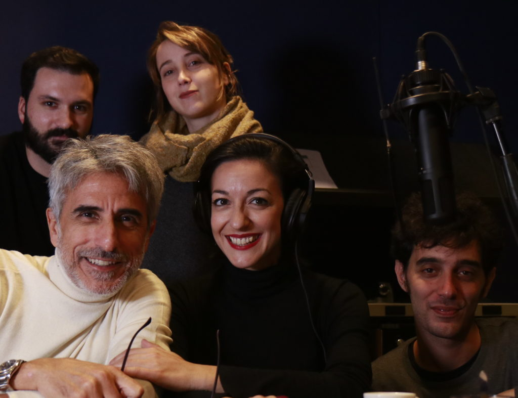 Parte del cast del podcast Agatha Christie Scomparsa